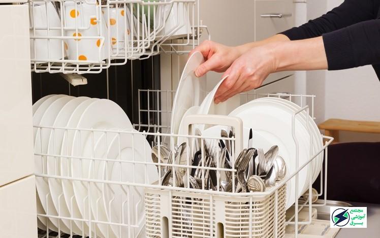 علت خشک نشدن ظروف ماشین ظرفشویی