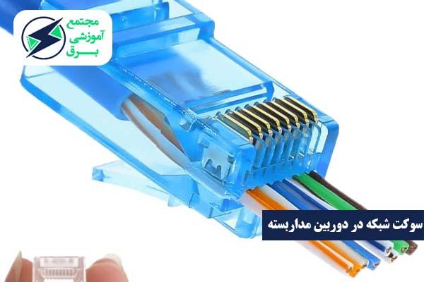 زدن سوکت شبکه در دوربین مدار بسته