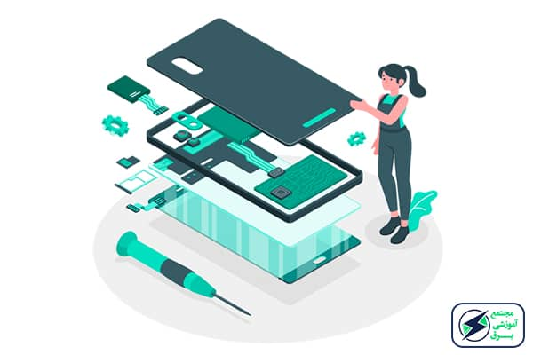 آموزش مجازی و غیر حضوری تعمیر انواع موبایل اندروید و ios